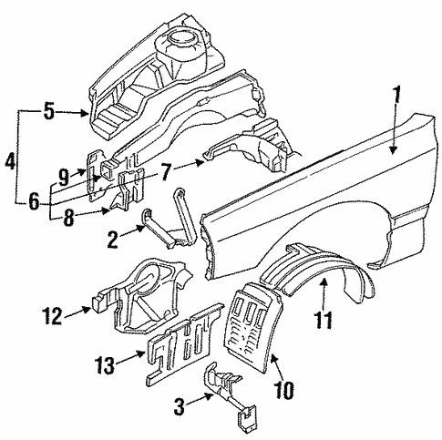 fender ponents for 1994 mitsubishi 3000gt sl auto parts 2005 Mitsubishi Endeavor Engine Diagram body fender ponents for 1994 mitsubishi 3000gt oem mitsubishi parts 1