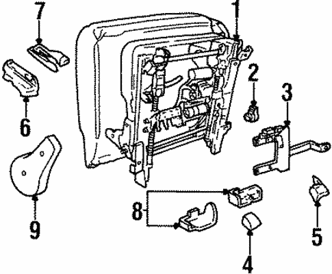 Tracks Components For 2002 Lincoln Continental