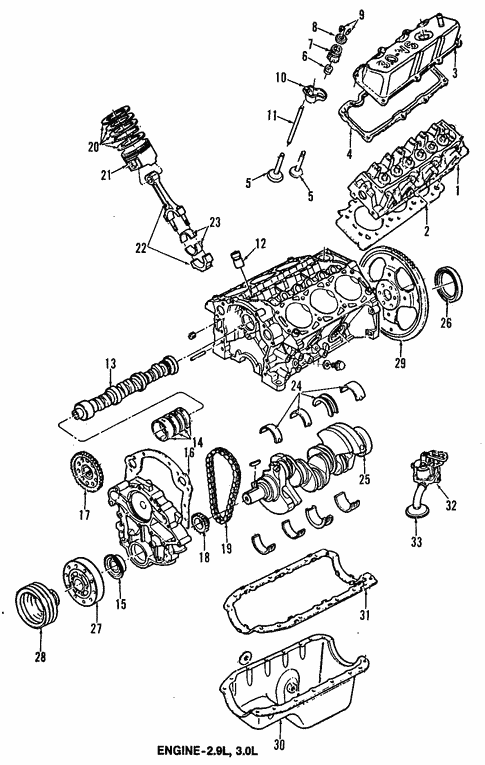 Engine/Engine for 1990 Ford Bronco II #1