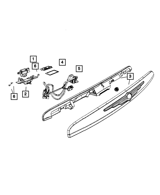Genuine Chrysler 68002046AA Light Bar Wiring