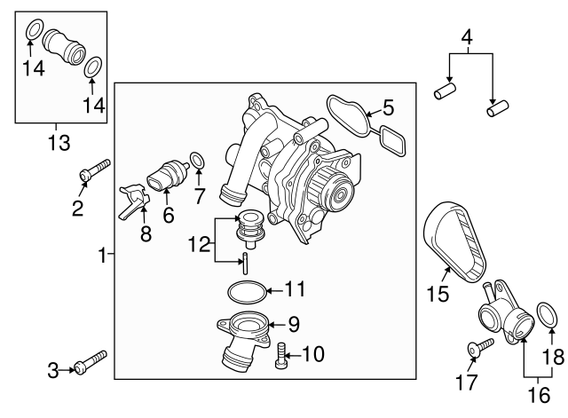 Audi A6 Thermostat Location