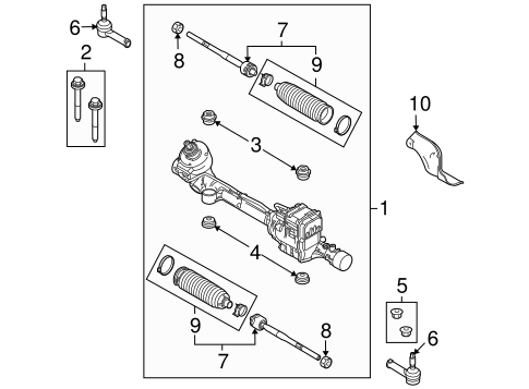Steering Gear Linkage For 2012 Ford Flex
