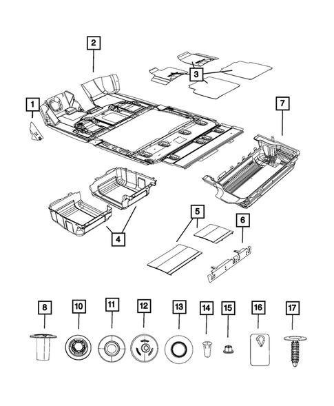 dodge grand caravan interior parts Carpets, Floor Mats, Load Floor and Silencers for 1 Dodge Grand