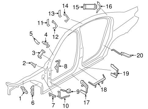 Inner Components For 2018 Bmw 740i