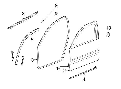 Oem 2001 buick lesabre door components parts for 2001 buick lesabre window motor