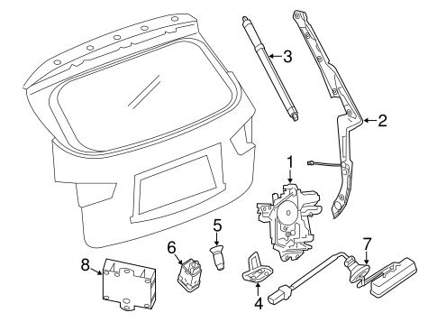 Lock Hardware Parts For 2016 Infiniti Qx60
