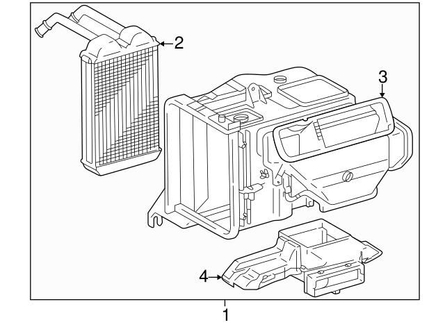 1996 2000 Toyota Rav4 Heater Assembly 87150 42060