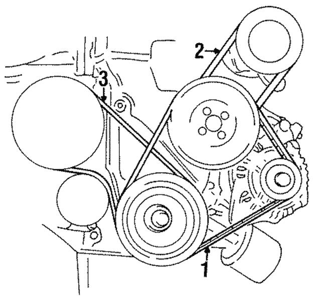 2008 hyundai elantra engine diagram 1996 2000 hyundai power steering belt 57231 29000 delray hyundai  hyundai power steering belt 57231 29000