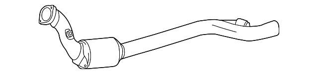 Genuine Mercedes-Benz Exhaust Gas Line 221-490-98-20-80
