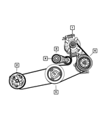 Belt Tensioner - Mopar (4891617AB)
