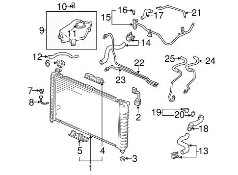 oem 1999 pontiac montana radiator & components parts ... 2003 pontiac grand am 3 4 engine diagram 99 montana 3 4 engine diagram