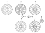 Wheel Cover - Toyota (42602-06070)