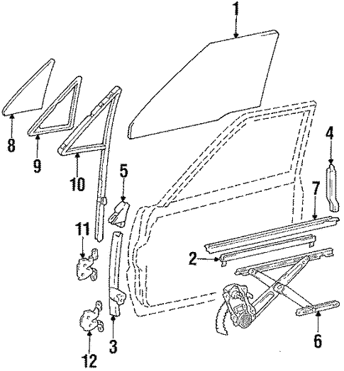 Body/Glass - Door for 1987 Toyota Pickup #1