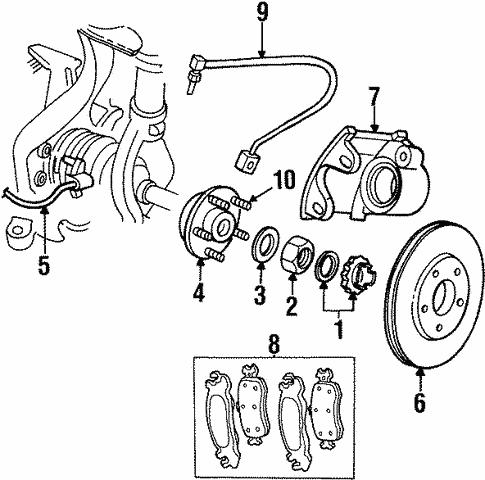 Front Brakes For 1998 Chrysler Sebring