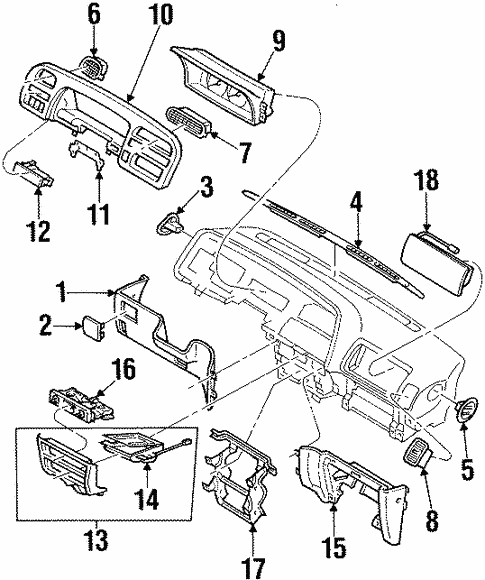 Controls for 1995 Isuzu Trooper #0