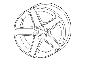 Wheel, Alloy - Mopar (1WL88RXFAB)