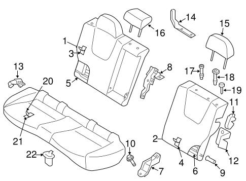 Rear Seat Components For 2011 Subaru Impreza