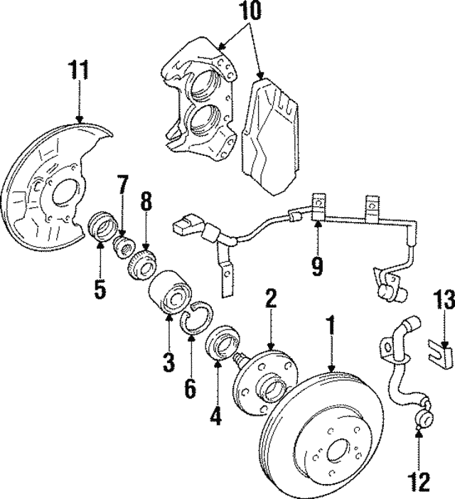 1993 1998 Toyota Supra Abs Rotor 43515 24010