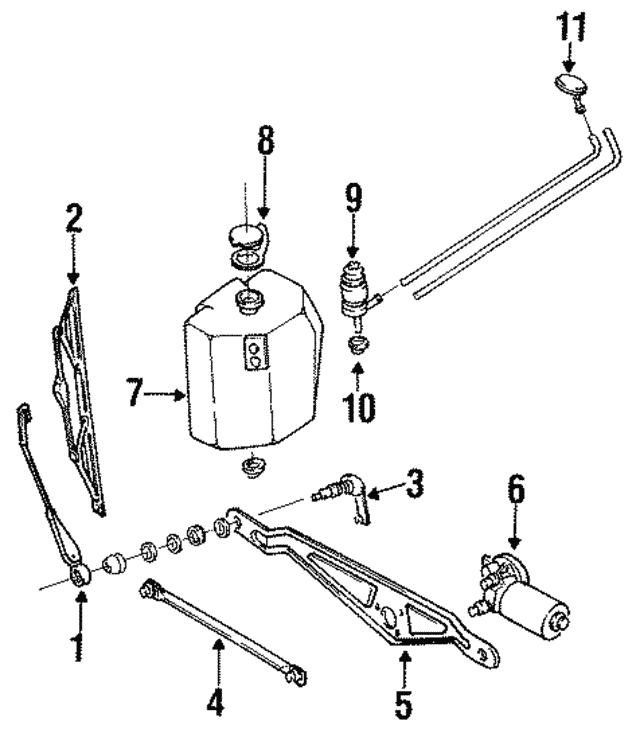 1985 2002 Volkswagen Washer Reservoir Cap 1h0 955 455