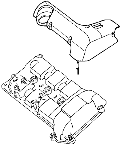 Engine/Engine Appearance Cover for 1997 Ford Contour #1