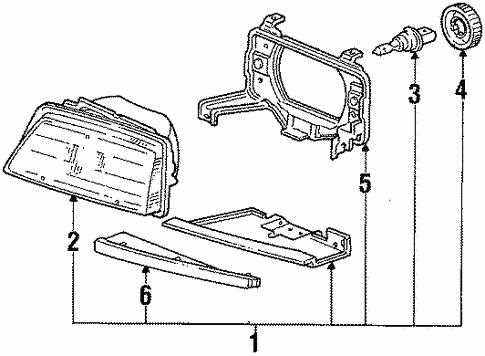 Headlamp Components For 1986 Honda Civic