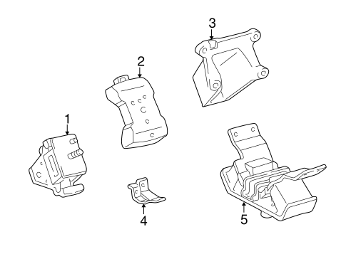 Engine Trans Mounting For 1996 Toyota 4runner