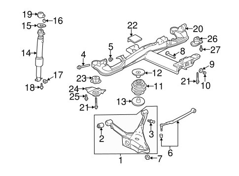 Buick Rendezvous Rear Suspension Parts Diagram On Buick Lesabre
