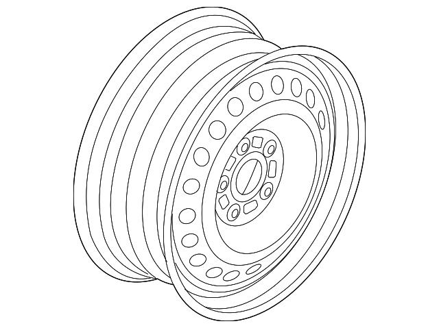 2013 2019 Ford Wheel Steel Ds7z 1015 A