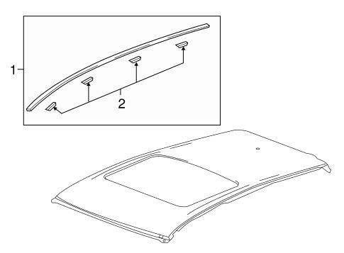 bodyexterior trim roof for 2016 chevrolet spark 1