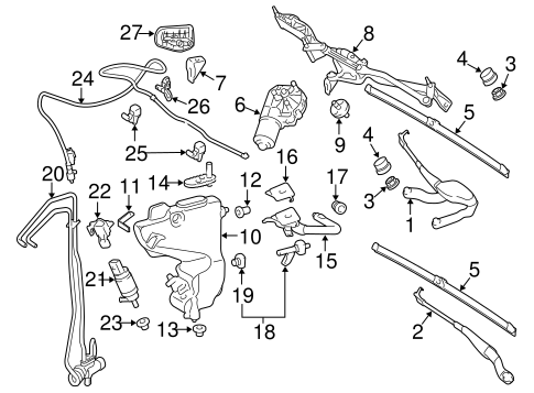 Wiper & Washer Components for 2006 Mercedes-Benz E 320 #0
