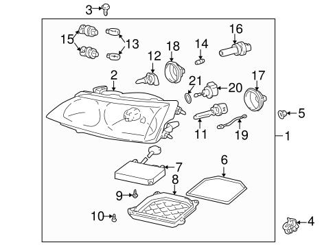Headlamp Components For 2001 Lexus Is300 Lexus Of West Kendall Parts