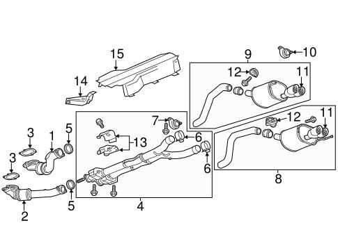 Chevrolet GM OEM 09-18 Corvette 6.2L-V8 Exhaust-Intermed Pipe Seal 10354707