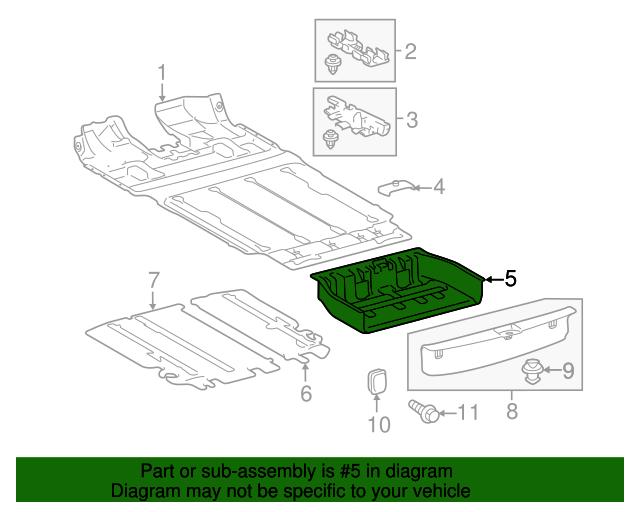 TOYOTA 58540-08012-B1 Floor Carpet Assembly