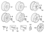 Wheel, Alloy - Volkswagen (5C0-601-025-AB-8Z8)