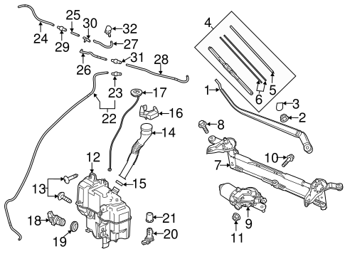 Wiper Washer Components For 2016 Mazda 6