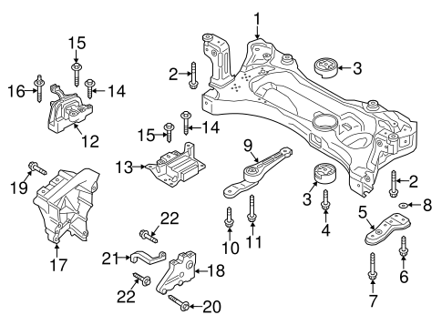 Engine Trans Mounting For 2017 Volkswagen Golf