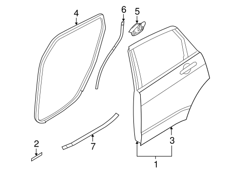 Body/Door & Components for 2010 Ford Focus #1