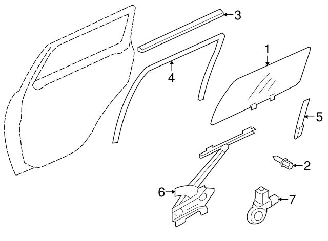 Mitsubishi Window Regulator 5743a049