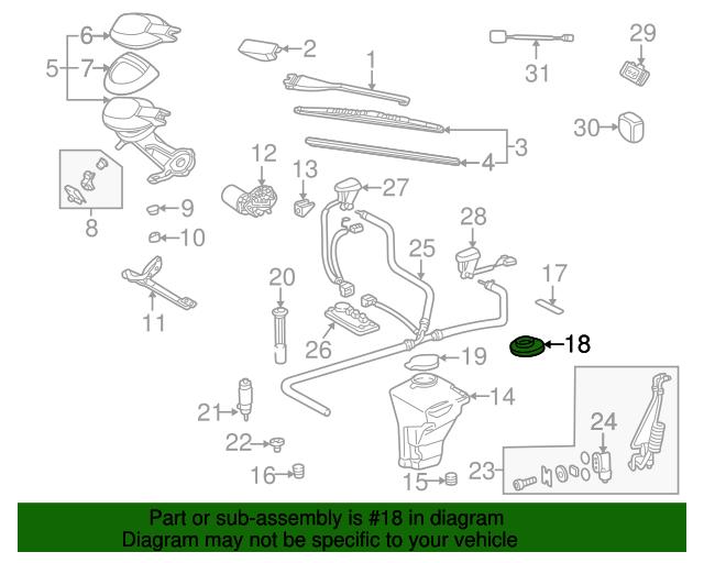 Washer reservoir cover mercedes benz 210 869 03 08 for Oem mercedes benz parts