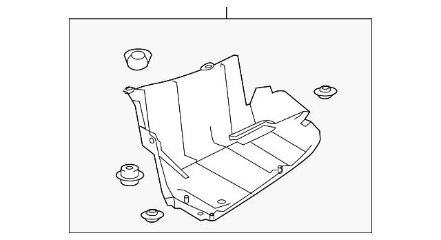 Genuine Toyota 58724-0E050 Luggage Compartment Protector