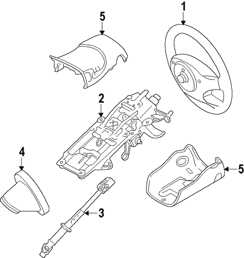 Steering/Steering Column for 2013 Ford Edge #1
