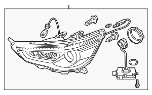 Headlamp Assembly - Mitsubishi (8301C216)