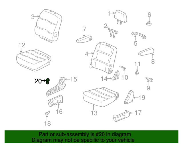 81739-S0X-A21ZA Seat Reclining Knob Honda Genuine