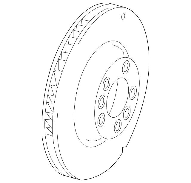 2004 2017 Volkswagen Touareg Rotor 7l8 615 601 G