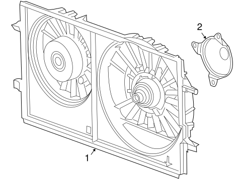 Oem 2006 Pontiac G6 Cooling Fan Parts Gmpartsonline Net