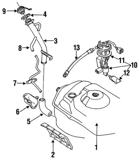 Fuel System Components For 1996 Dodge Stealth