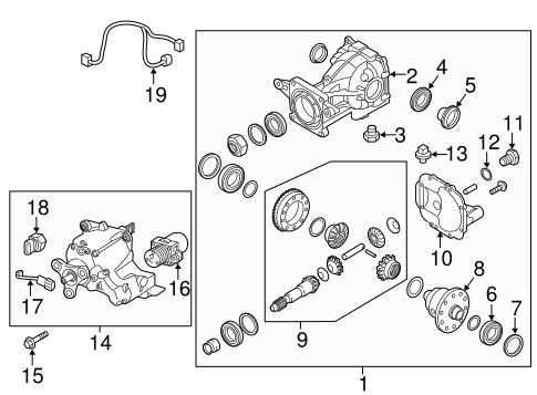 Tucson Rear Suspensionaxle Differential Parts