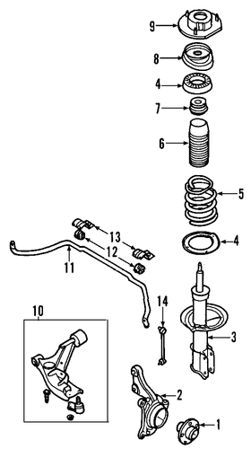 Oem 2008 Chevrolet Hhr Suspension Components Parts