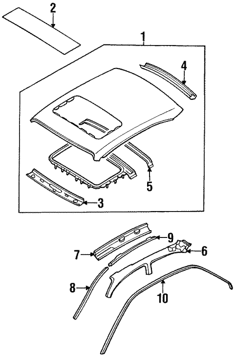 Roof Components For 1997 Nissan Altima