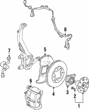 Caliper Sub-Assembly, L Front (RMD)
